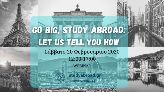 Virtual Event Go Big, Study Abroad: Let us tell you how